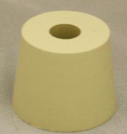 #6 DRILLED RUBBER STOPPER