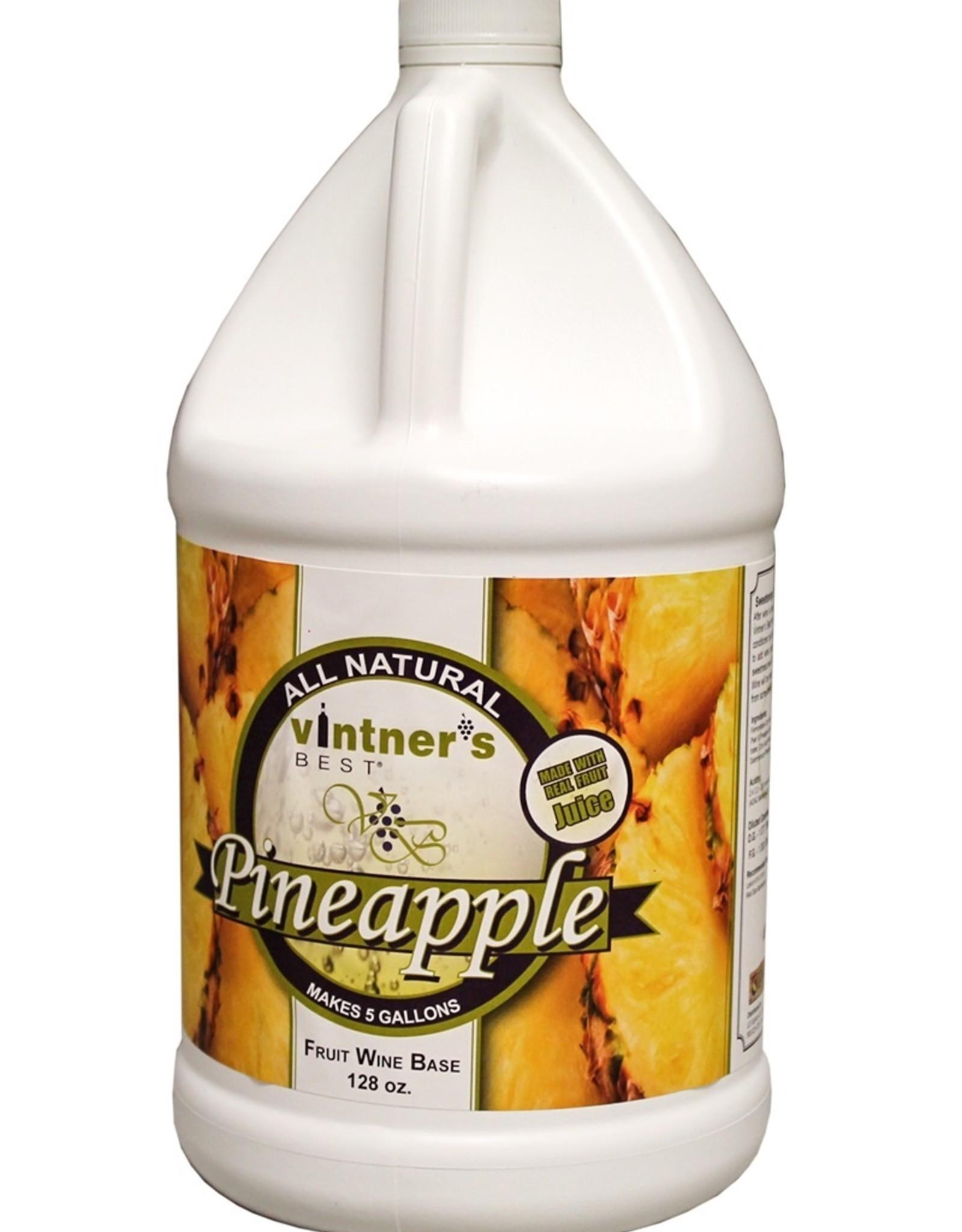PINEAPPLE FRUIT WINE BASE 128 OZ (1 GALLON)