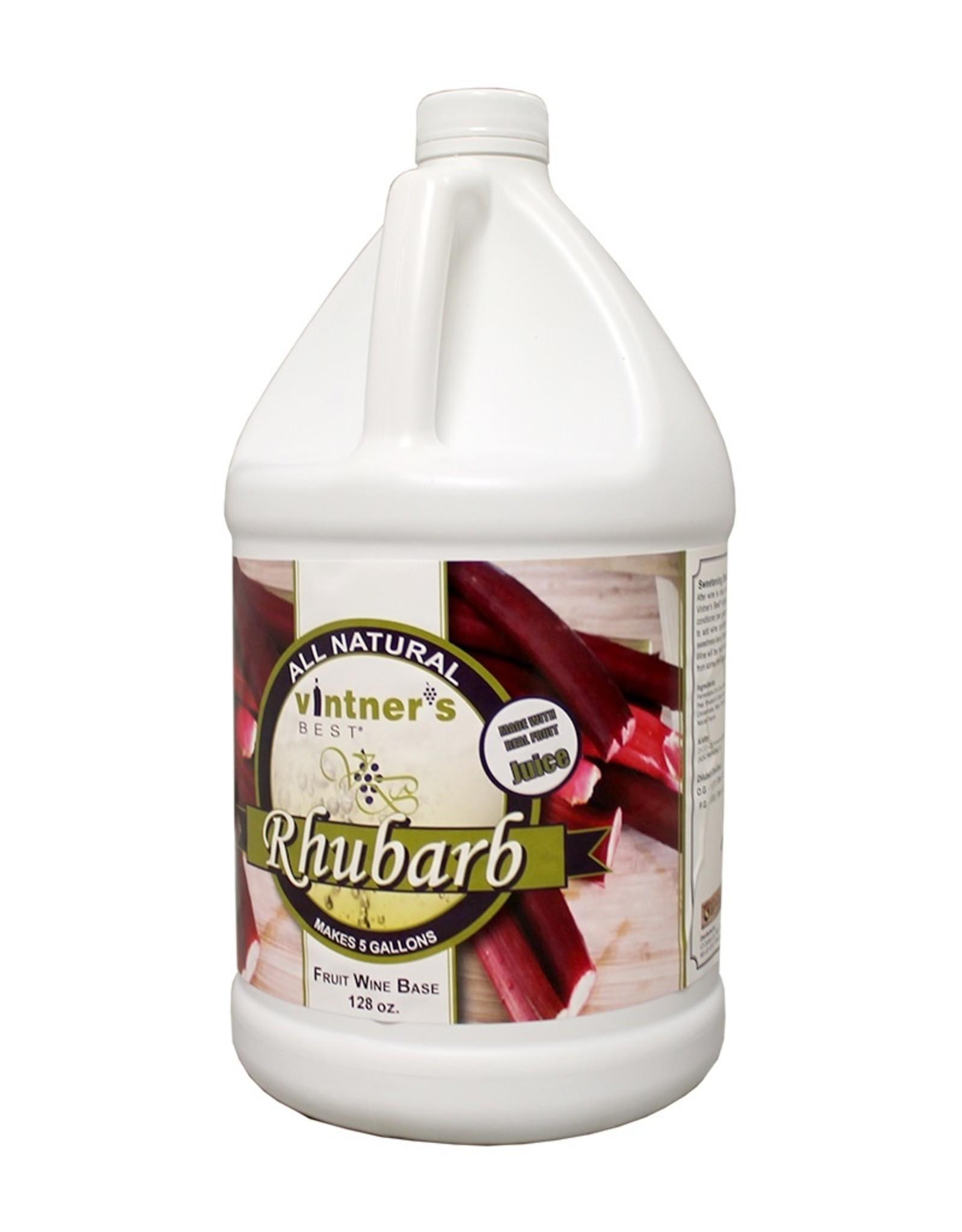 RHUBARB FRUIT WINE BASE 128 OZ (1 GALLON)