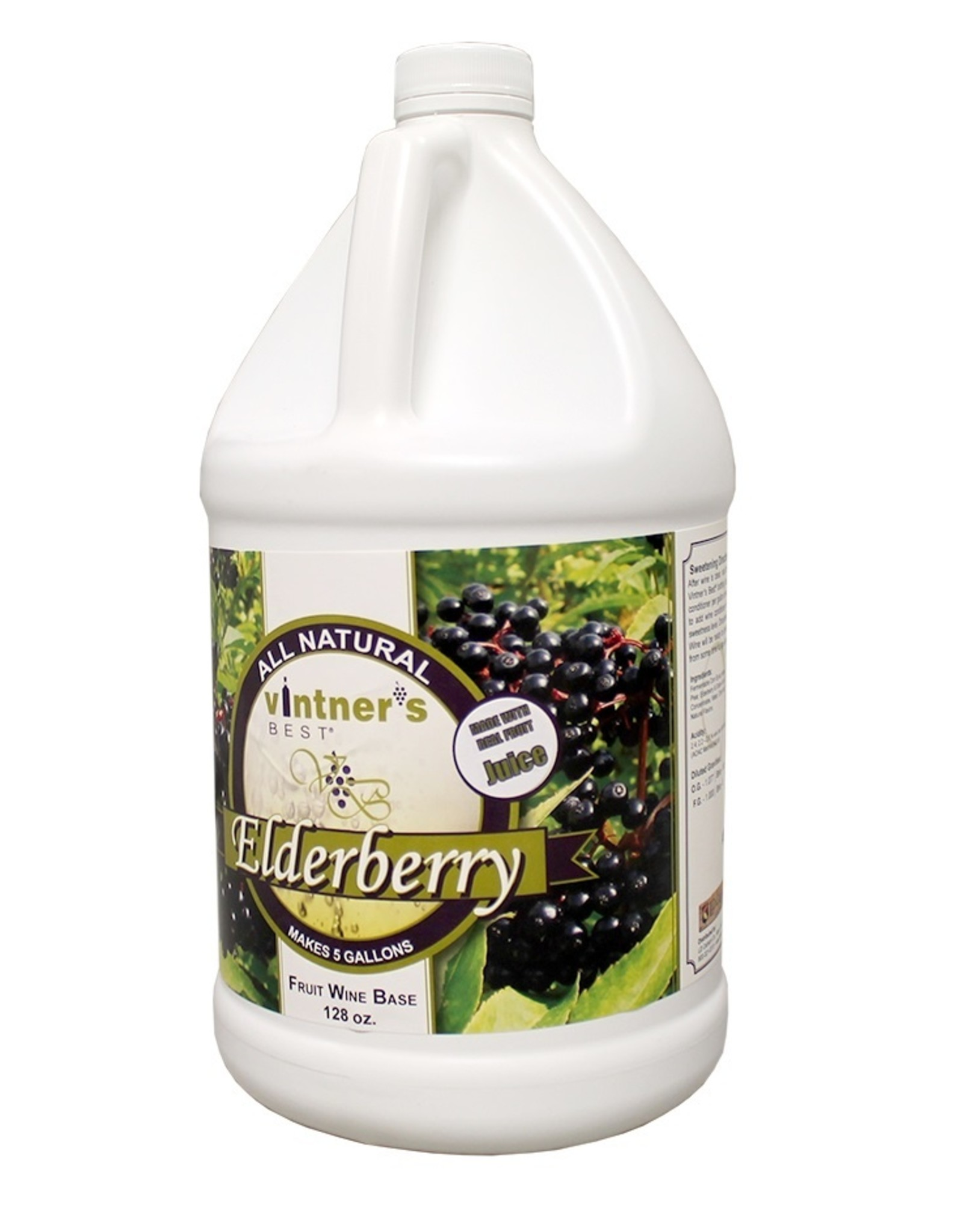 ELDERBERRY FRUIT WINE BASE 128 OZ (1 GAL)