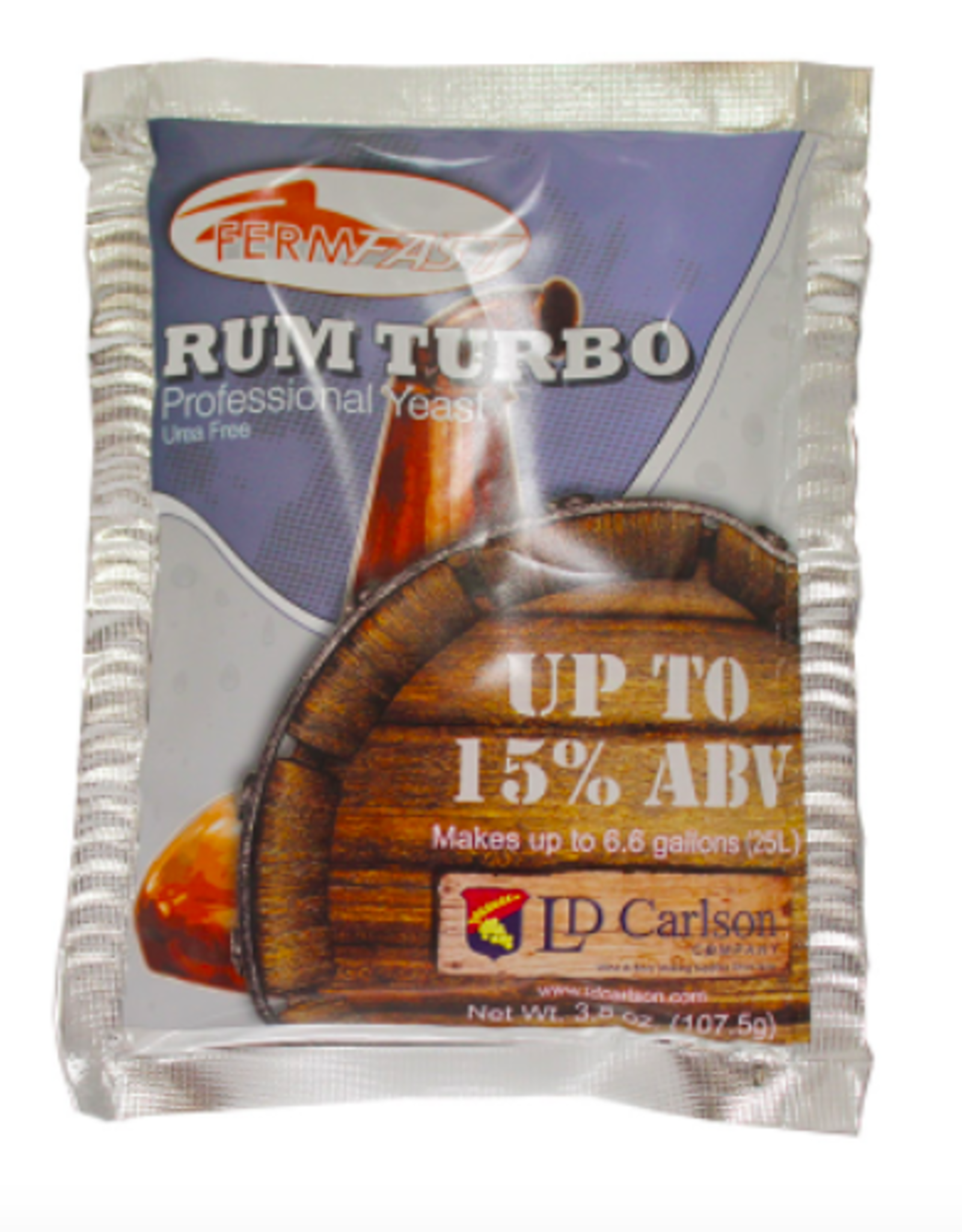 FERMFAST RUM TURBO YEAST 107.5 GRAM (UREA FREE)