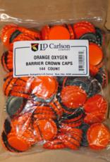 ORANGE CROWN CAPS WITH OXY- LINER 144/BAG