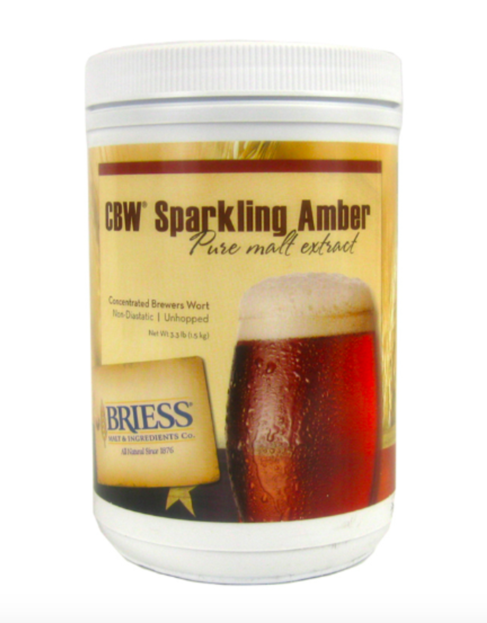 BRIESS SPARKLING AMBER CANISTER 3.3 LB