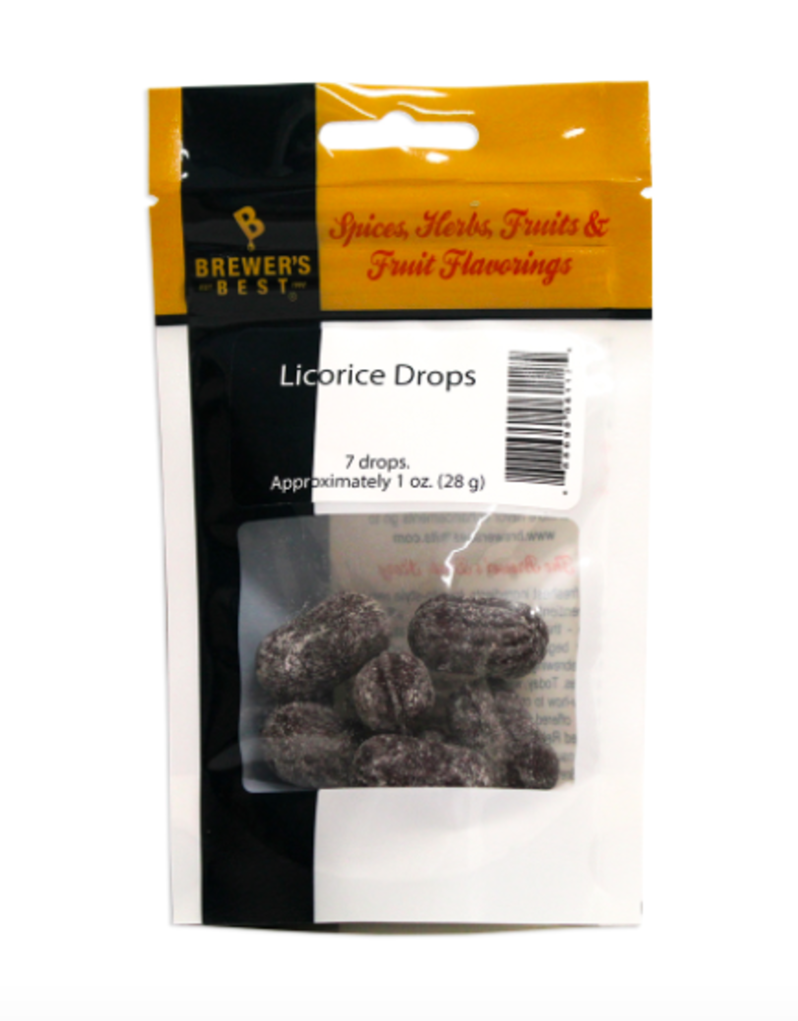 LICORICE DROPS (7 DROPS - APPROX. 1 OZ.)