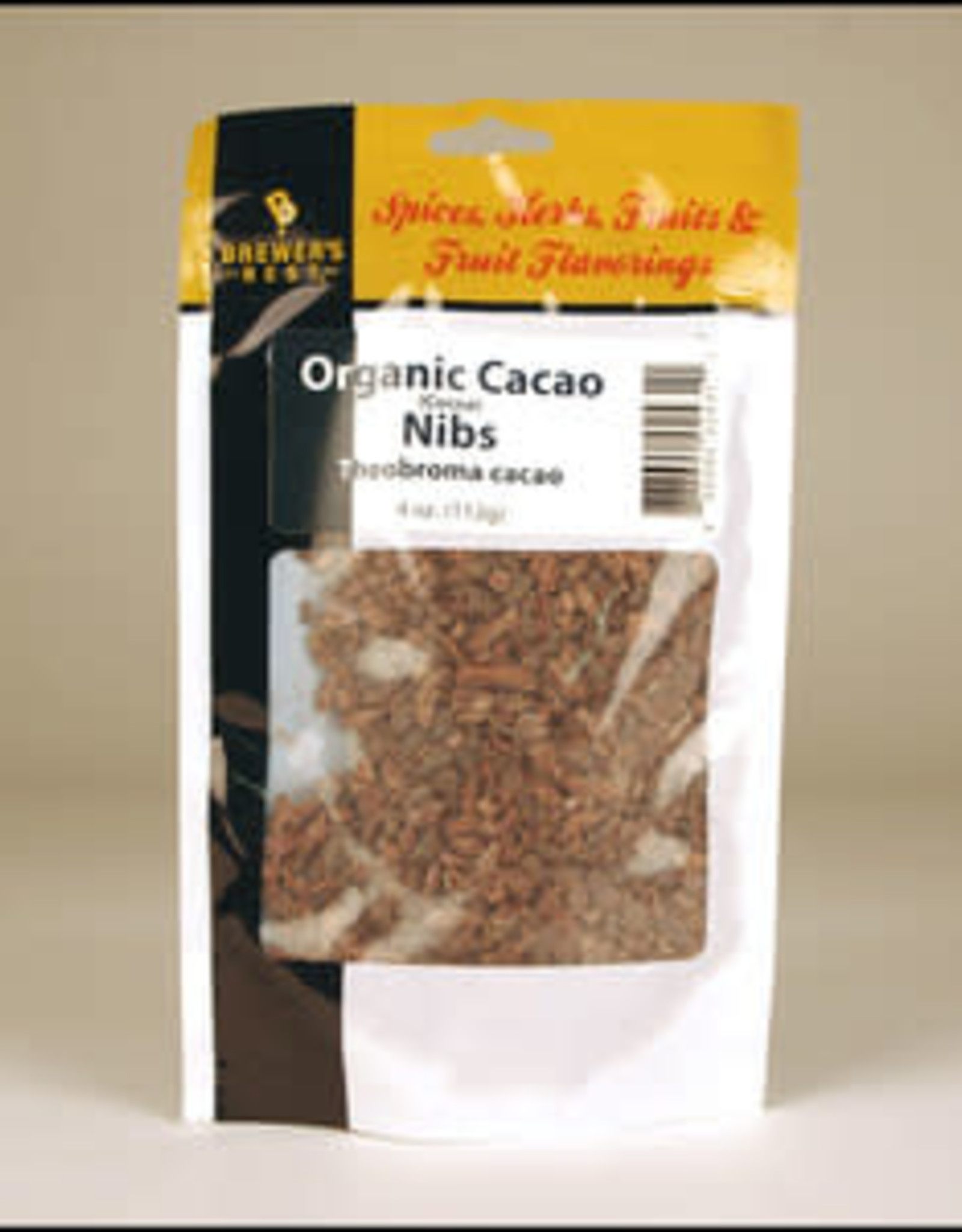 BREWER'S BEST ORGANIC CACAO NIBS 4 OZ