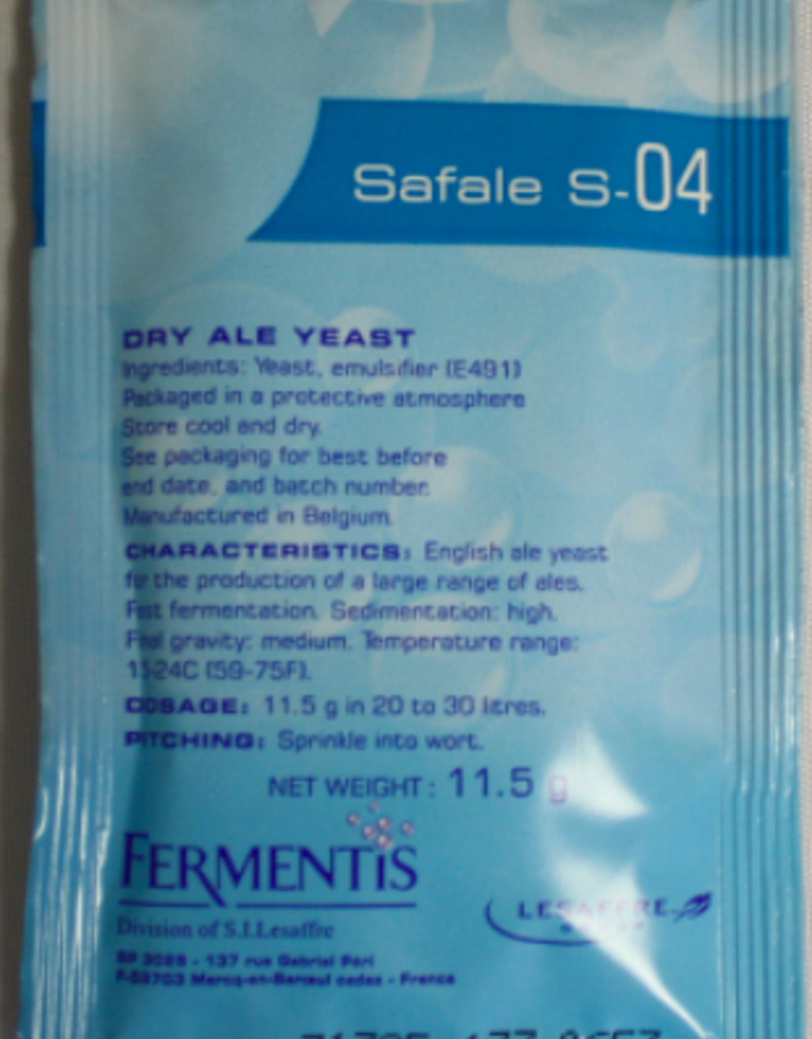 Safale S-04 English Ale Yeast (Fermentis) - 11.5 g