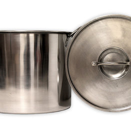20 QT STOCK POT STAINLESS STEEL W LID