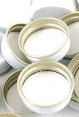 28mm METAL WHITE SCREW CAPS EA