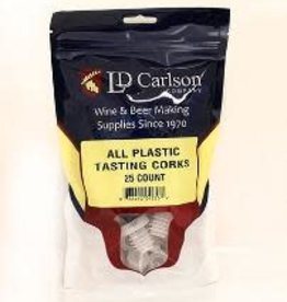 ALL PLASTIC TASTING CORKS 25/BAG