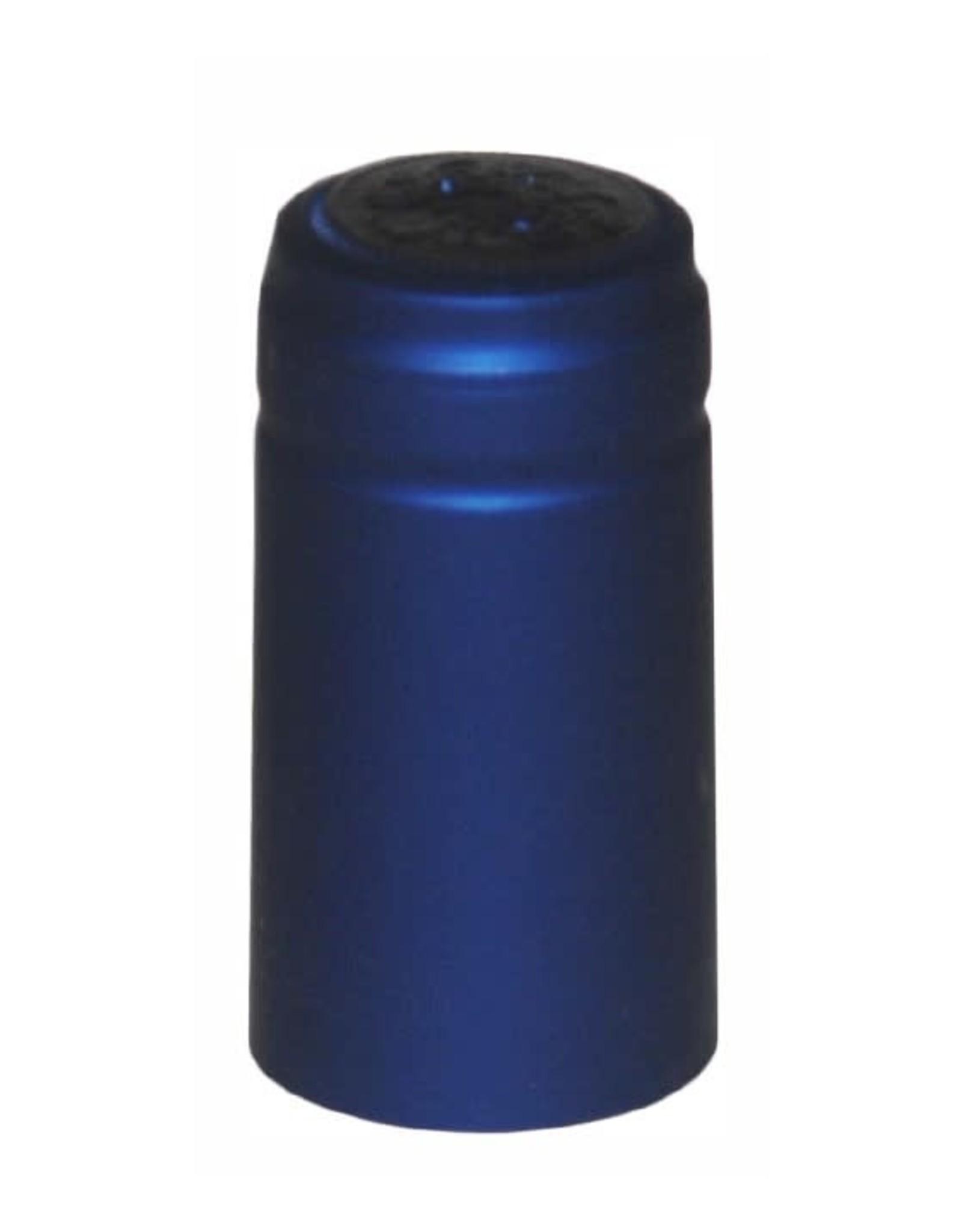 COBALT BLUE METALLIC PVC SHRINK CAPSULES 30 COUNT
