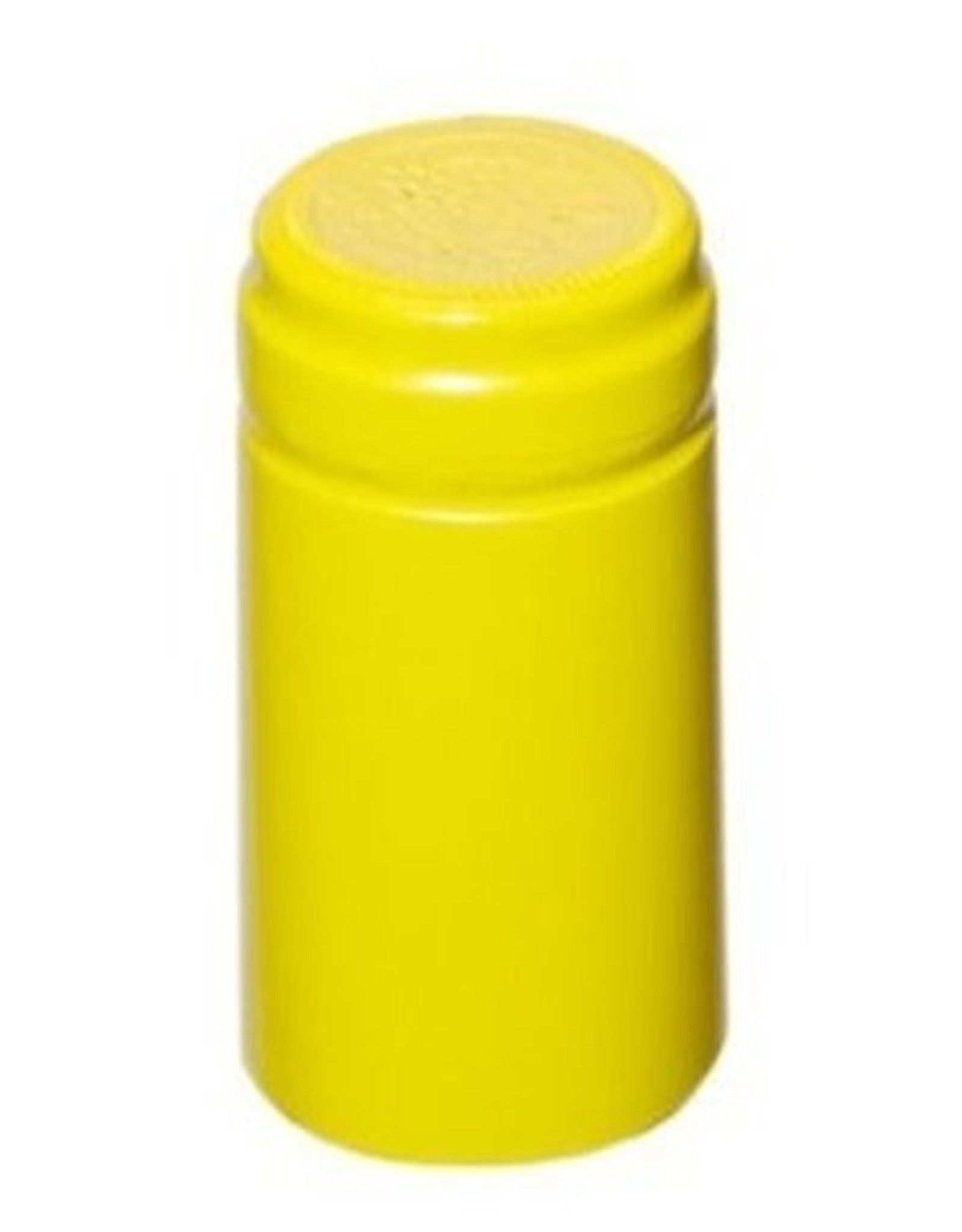 YELLOW MUSTARD PVC SHRINK CAPSULES 30 COUNT