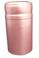 LIGHT ROSE METALLIC PVC SHRINK CAPSULES 30 COUNT