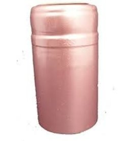 LIGHT ROSE METALLIC PVC SHRINK CAPSULES 30 COUNT