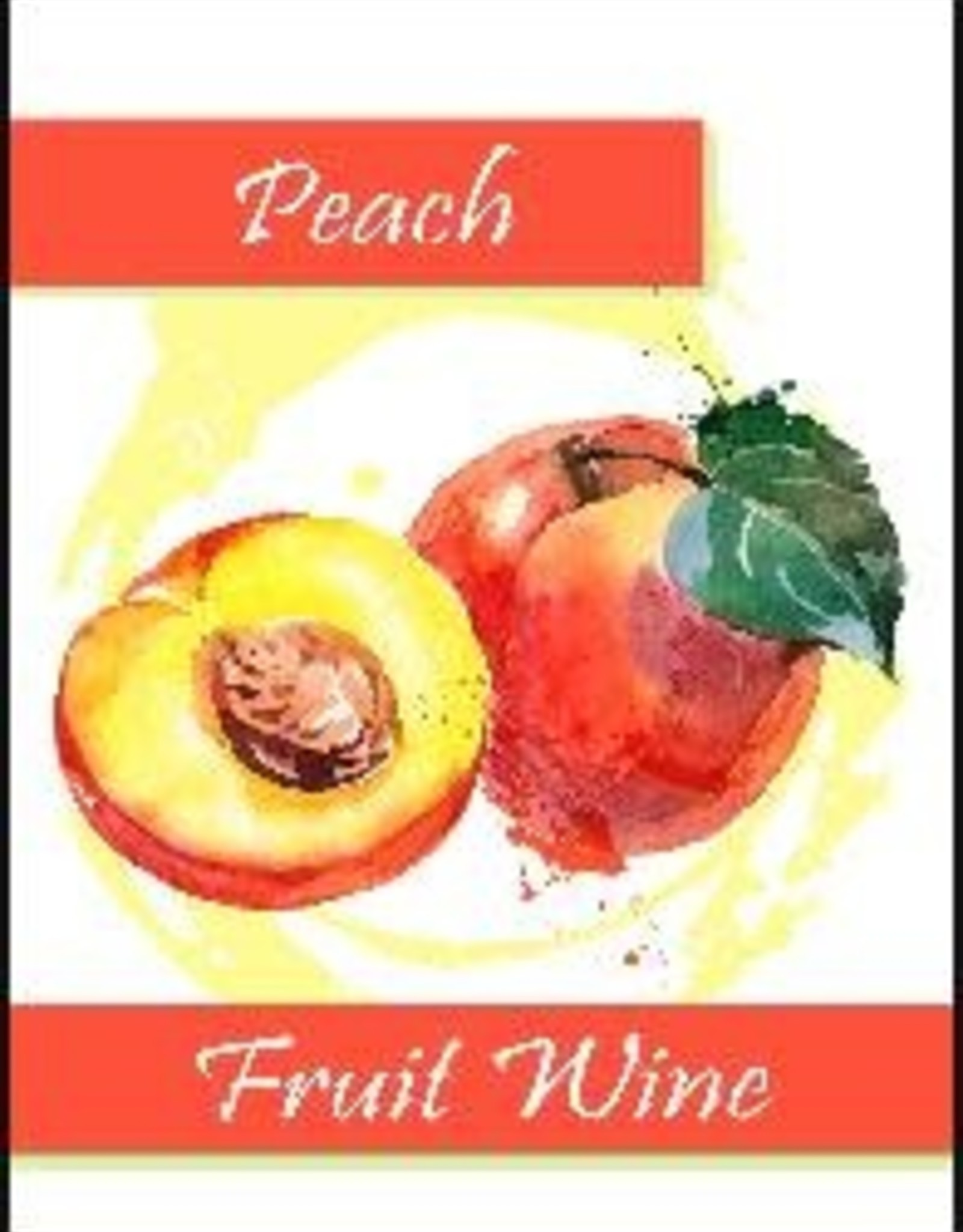 PEACH FRUIT WINE LABELS 30/PACK