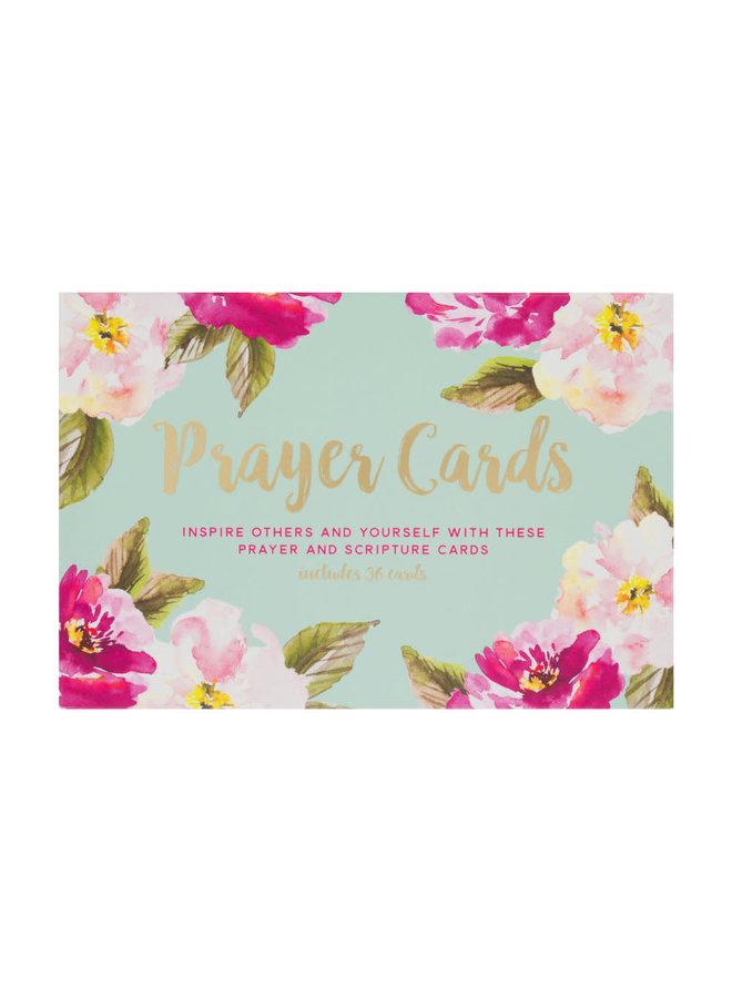 MINT FLORAL PRAYER CARDS
