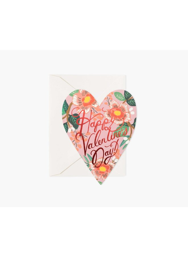HEART BLOSSOM VALENTINES CARD