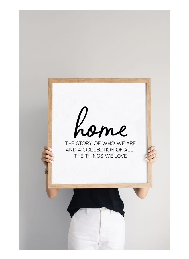 HOME THE STORY MAGNET BOARD 24X24 RUSTIC BROWN