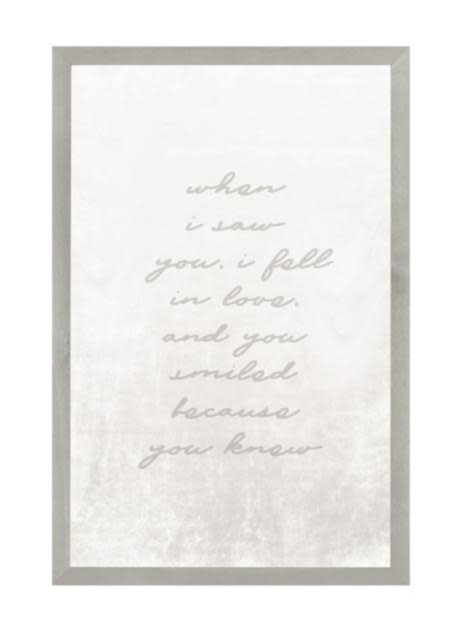 WHEN I SAW YOU 16X24 WOOD VINTAGE