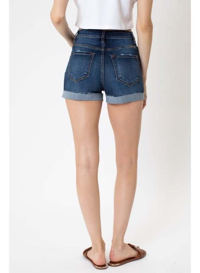 MILO HIGH RISE BUTTON FLY SHORTS