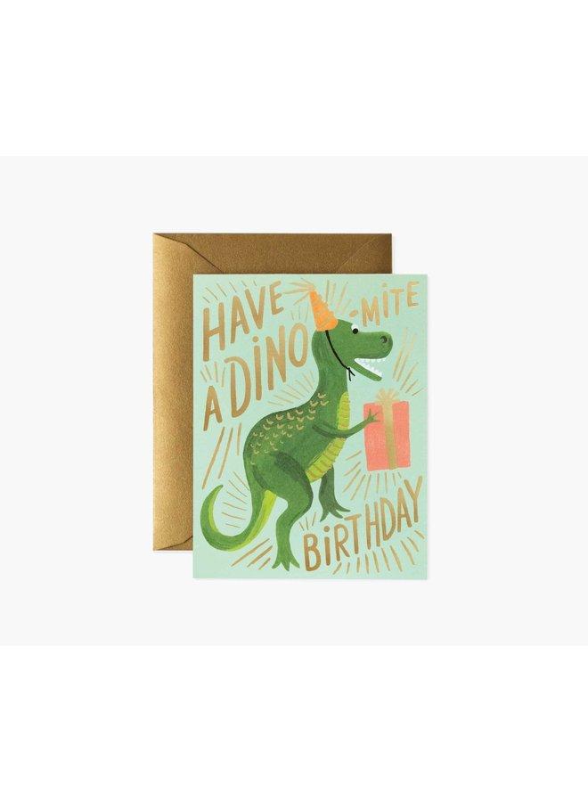 DINO-MITE BIRTHDAY CARD