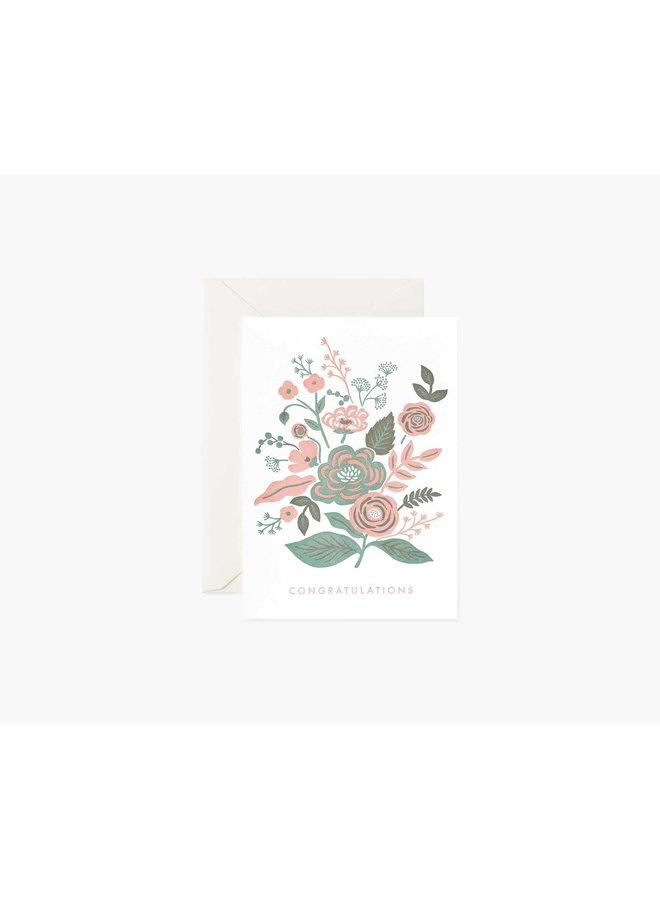 GARDEN CONGRATULATIONS FLORAL CARD