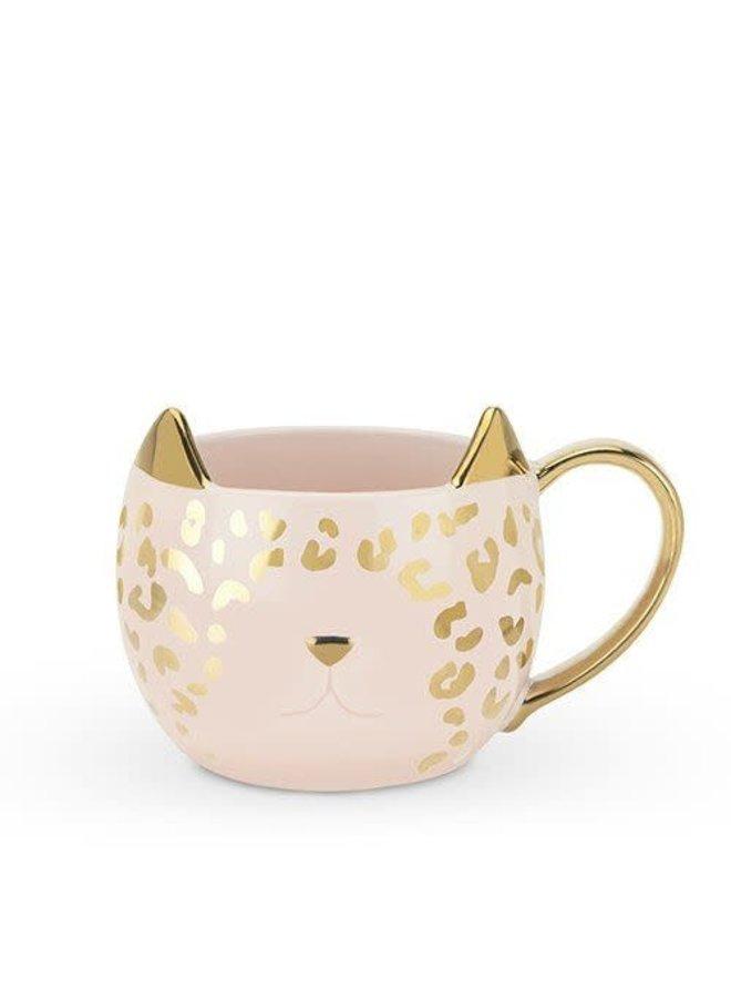 PAR-TEA ANIMAL LEOPARD CAT MUG