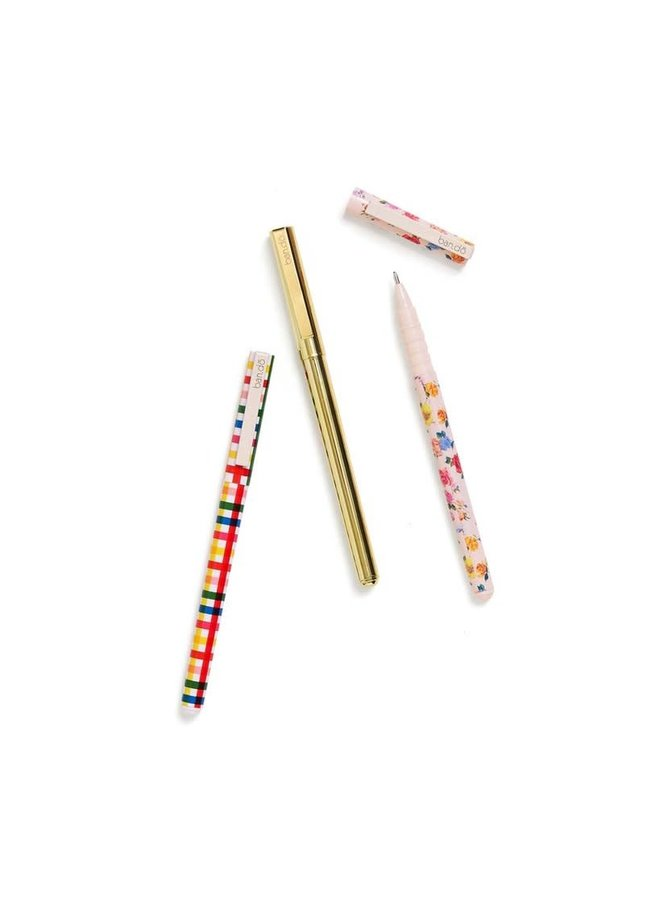 WRITE ON PEN SET - COMING UP ROSES