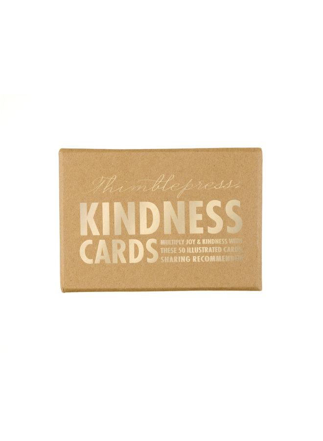 THIMBLE PRESS KINDNESS CARDS, KRAFT 4X6