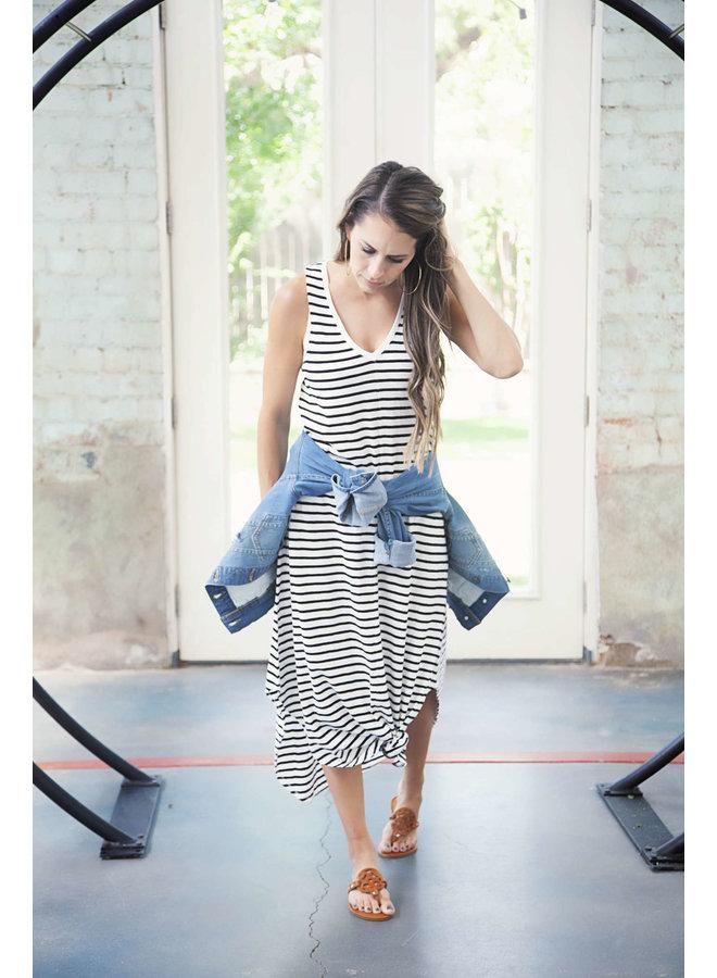 REVERIE STRIPE DRESS