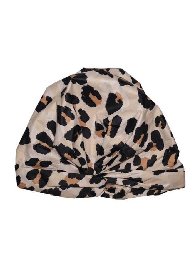 LEOPARD SHOWER CAP