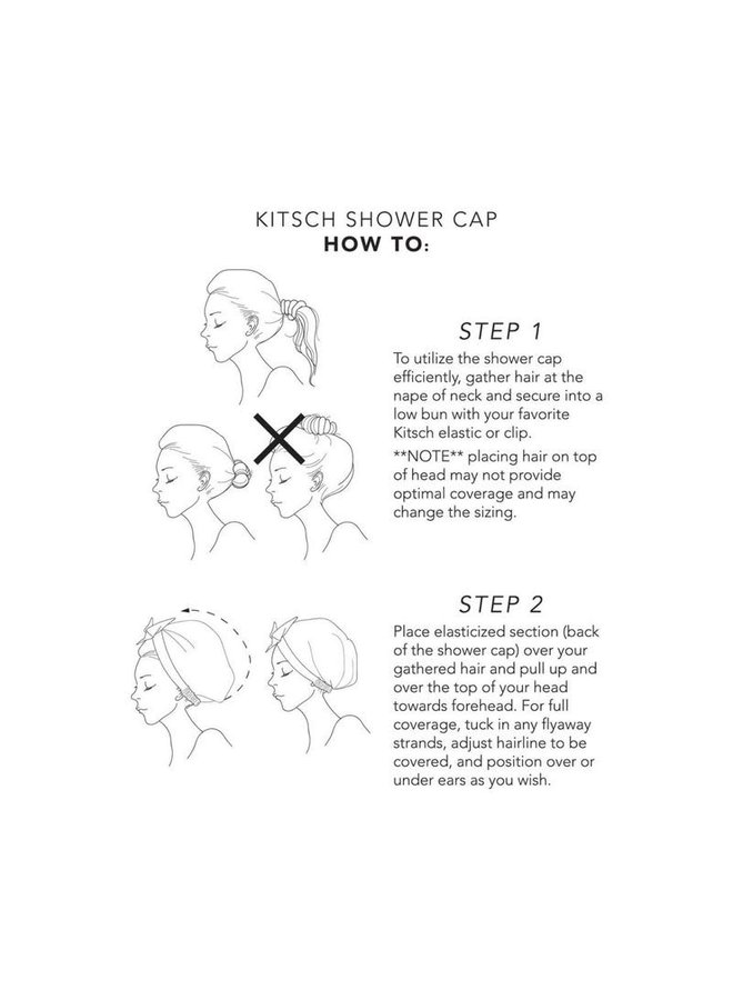 STRIPE SHOWER CAP