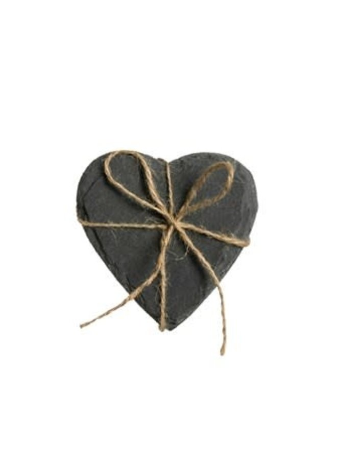 SLATE HEART COASTERS 4 PACK
