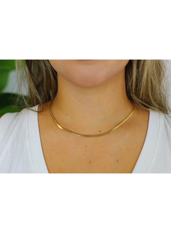 HERRING 18K GOLD PLATED CHAIN NECKLACE
