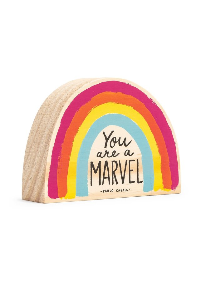 YOU ARE A MARVEL WOOD ART