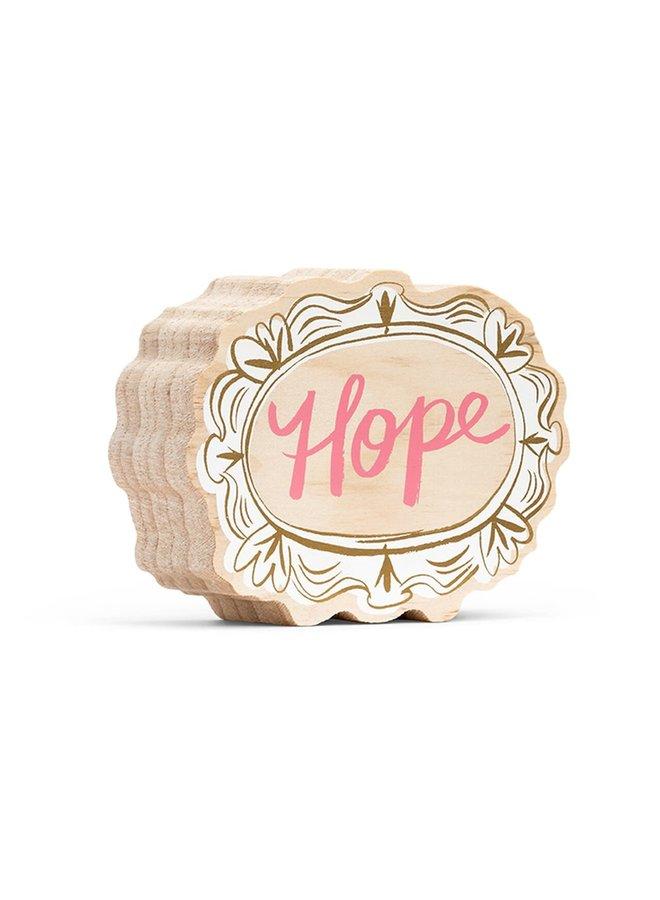 HOPE (MINI) WOOD ART