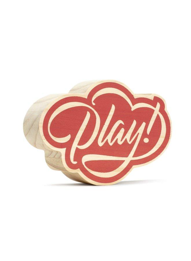 PLAY (SMALL) WOOD ART