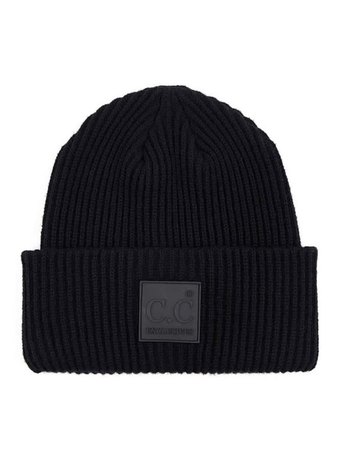 KENNY  SOLID RIBBED KNIT BEANIE & SCARF BUNDLE