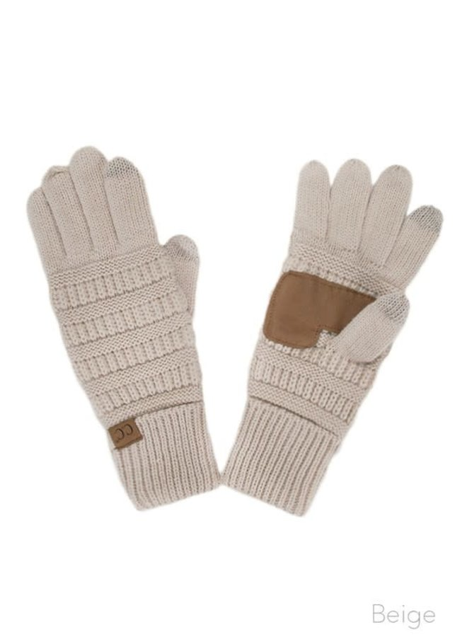 FINNEAS KITTED TOUCH SCREEN GLOVES