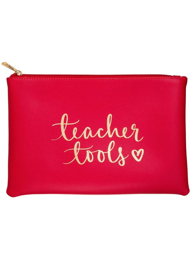 TEACHER TOOLS RED POUCH