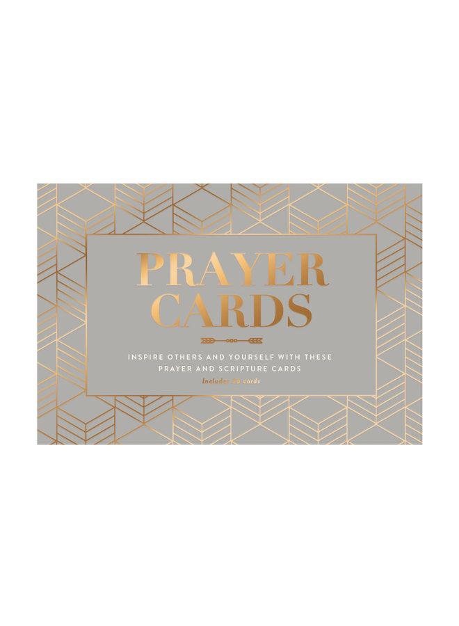 MODERN GRAY PRAYER CARDS