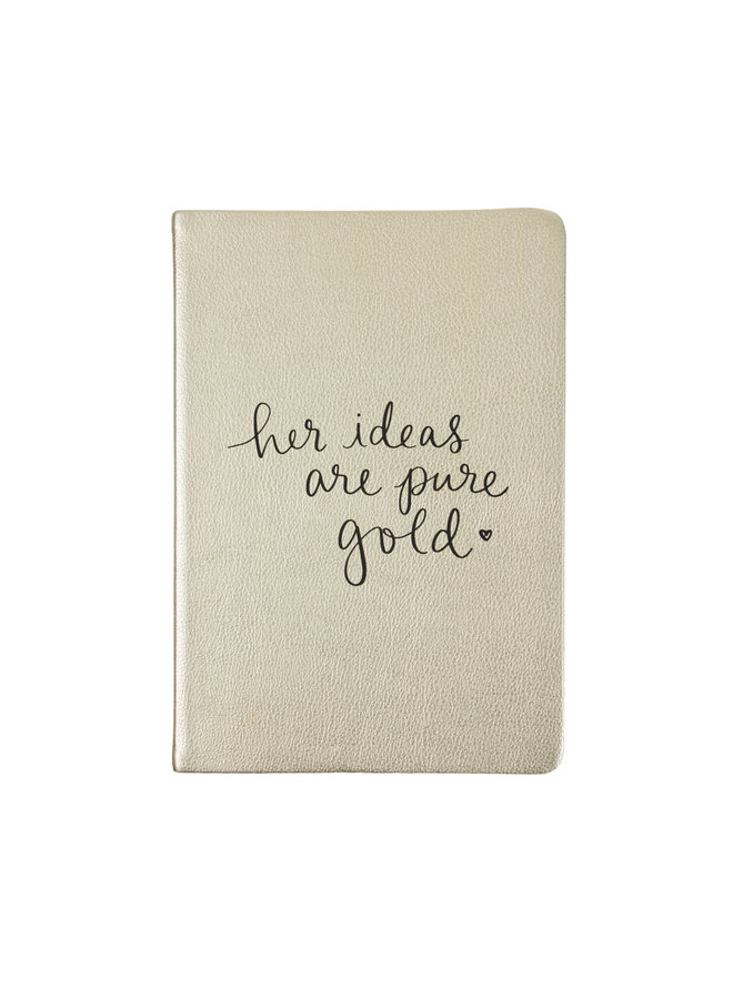 HER IDEAS ARE GOLD JOURNAL