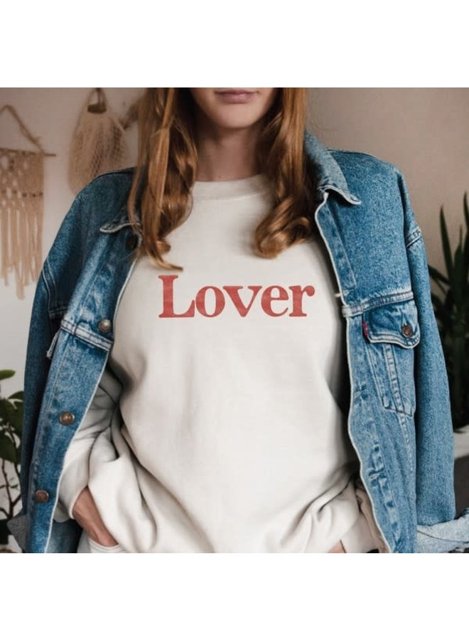 LOVER GRAPHIC FLEECE PULLOVER