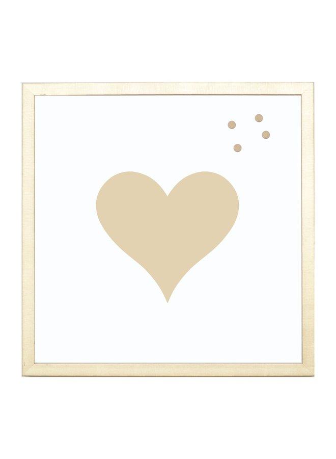 MINI GOLD HEART WALL ART 8.5 X 8.5