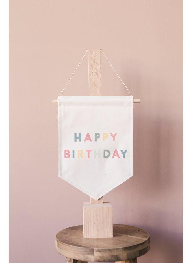 HAPPY BIRTHDAY BANNER 9 X 12.5