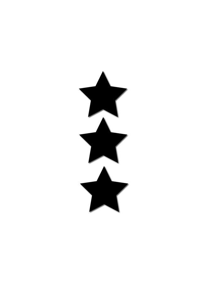 STAR MINI MAGNET SET BLACK