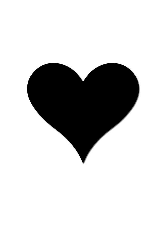 HEART MAGNET LARGE BLACK