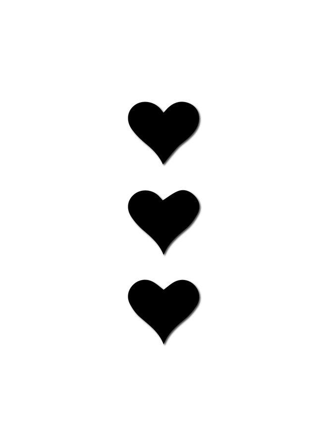 MINI HEART MAGNET SET BLACK