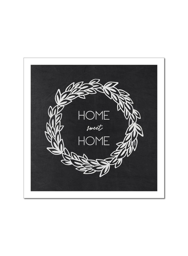 CHALK HOME SWEET HOME QUOTE BLOCK 9 X 9