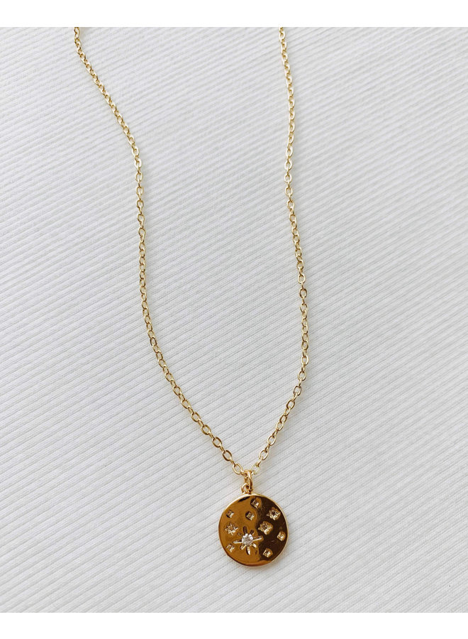 GOLD STAR COIN NECKLACE