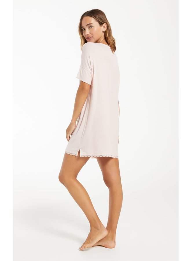 RHONDA GIRLFRIEND RIBBED LOUNGE DRESS